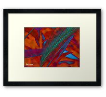 green grass abstract (389) 8/15/15 Framed Print