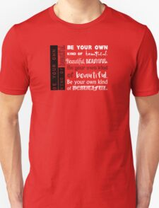 Be Your Own Kind of Beautiful - in pink Unisex T-Shirt