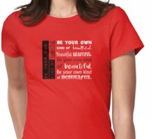 Be Your Own Kind of Beautiful - in pink Womens Fitted T-Shirt