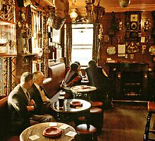 "Early evening in the ""Olde Ship Inn"", Seahouses, 1980s, NE England. by David A. L. Davies"