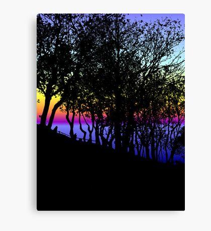 Faux Sunrise Canvas Print