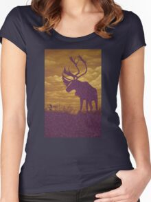 Ornamental shadowplay I. - acrylic on canvas Women's Fitted Scoop T-Shirt