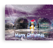 Penguin's Merry Christmas Canvas Print