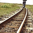 Man on Tracks by Natalie Broome