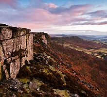 Curbar Edge Sunset by James Grant