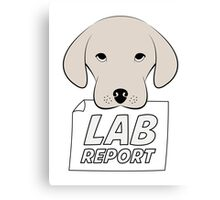 Lab Report Canvas Print