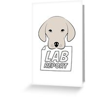 Lab Report Greeting Card