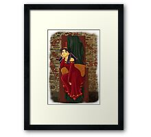 The princess is bored Framed Print