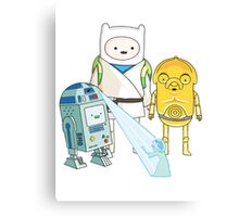 Adventure Time - Star Wars Canvas Print
