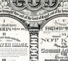 The Ten Commandments 1876 Vintage Poster Restored Sticker