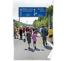 """Still-leben"" on the A40 Autobahn, Germany. Poster"
