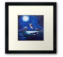'Big Moon Hug' Framed Print