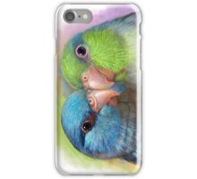 Pacific parrotlet parrot realistic painting iPhone Case/Skin