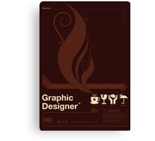 Graphic Designer Canvas Print
