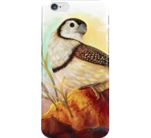 Owl finches realistic painting iPhone Case/Skin