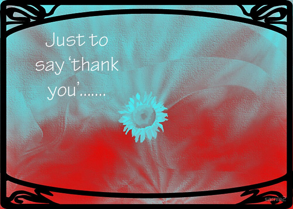 Just to say thank you -card by sarnia2