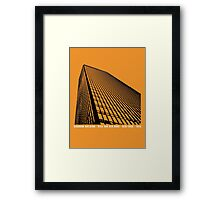Mies Van Der Rohe Seagram Architecture Tshirt Framed Print