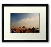 Pyramids - Breast Cancer Walk Framed Print