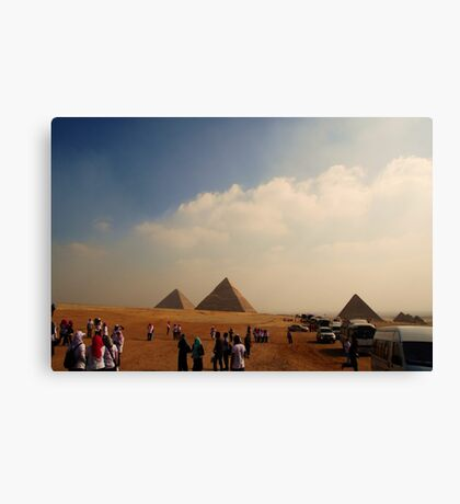 Pyramids - Breast Cancer Walk Canvas Print