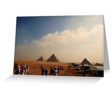 Pyramids - Breast Cancer Walk Greeting Card