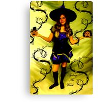 SYDNEY THE WITCH!!!  HAPPY HOLLOWEEN!!!  Canvas Print
