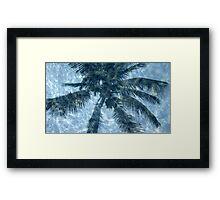 palm tree reflection Framed Print