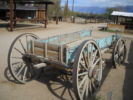 Old Blue Wagon by marilyn diaz