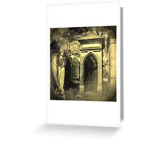 Angel of the grave Greeting Card