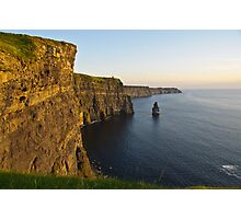 cliffs of moher sunset landscape county clare ireland Photographic Print
