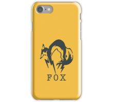 Metal Gear Solid - FOX (Black + Text) iPhone Case/Skin