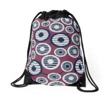 Pattern with circles in loft style Drawstring Bag