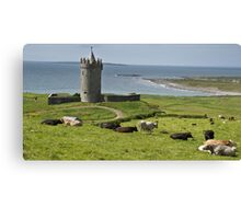 european irish castle in county clare Canvas Print