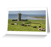 european irish castle in county clare Greeting Card