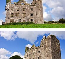 This is Leamanagh Castle between Corofin and Kilfenora , County Clare, Ireland. by Noel Moore Up The Banner Photography