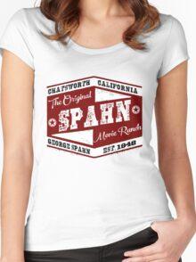 Original Spahn Movie Ranch Design Manson Family Women's Fitted Scoop T-Shirt