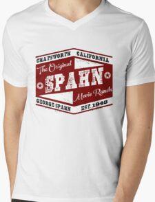 Original Spahn Movie Ranch Design Manson Family Mens V-Neck T-Shirt