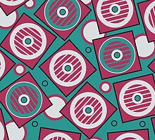 Retro pattern in the squares and circles by alijun