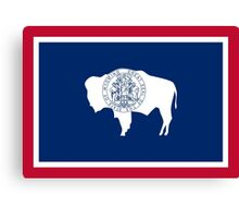 State Flags of the United States of America -  Wyoming Canvas Print