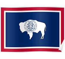 State Flags of the United States of America -  Wyoming Poster