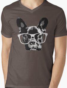 nerd dog Mens V-Neck T-Shirt