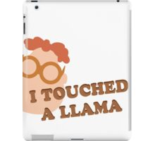 I Touched A Llama- Carl iPad Case/Skin