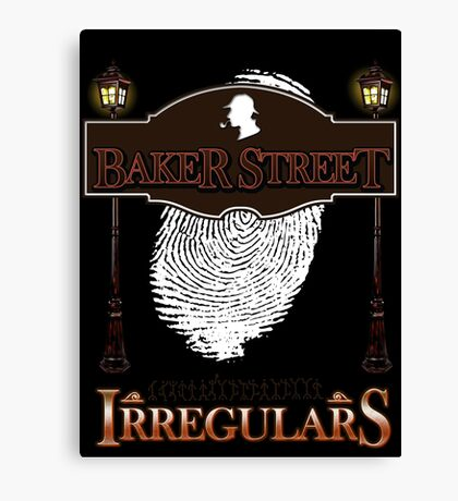 Sherlock Holmes Baker Street Irregulars Design Canvas Print