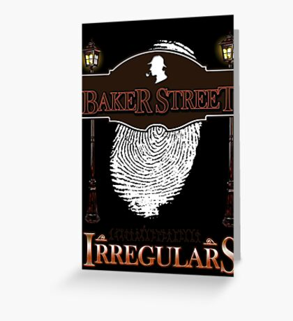 Sherlock Holmes Baker Street Irregulars Design Greeting Card