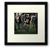 Cool man walking :)) Framed Print