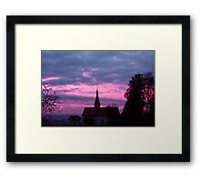 Morning church Framed Print