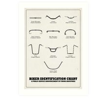 Biker Chart Art Print