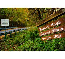 This Way to Rabbit Hash Photographic Print