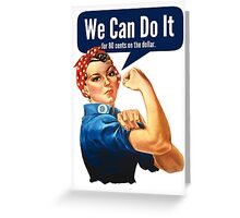 Feminist We Can Do It Greeting Card