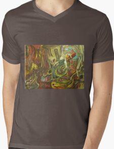 Smart omen Mens V-Neck T-Shirt