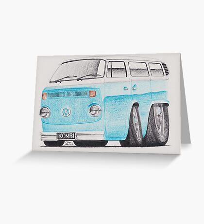 VW Kombi/Transporter by Glens Graphix Greeting Card
